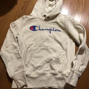 7153061d Champion Tops | Womans Off White Hoodie | Poshmark